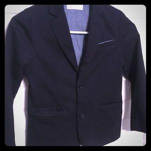 Navy blue boys dress jacket
